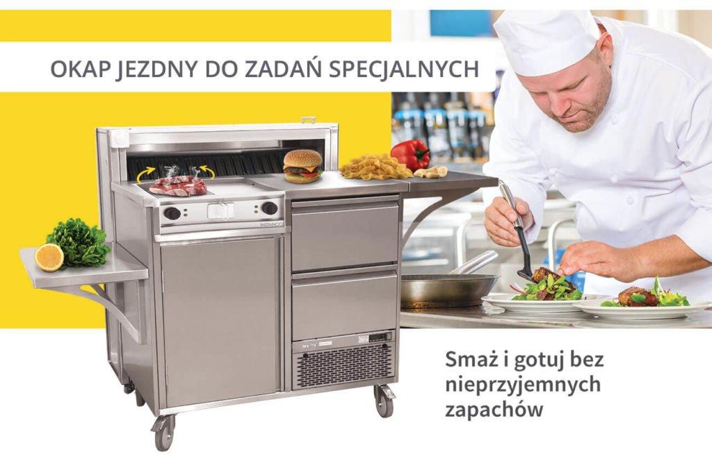 okap jezdny i stacja live cooking  Co powinien, a czego nie powinien widzieć Klient w restauracji? okap jezdny i stacja live cooking 1024x674